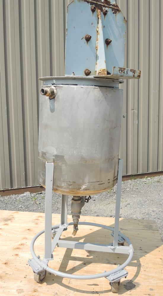 Image 8 Gallon Stainless Steel Jacketed Tank With Air Mixer 681224