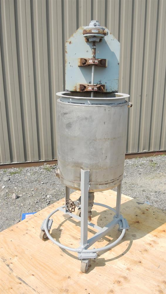 Image 8 Gallon Stainless Steel Jacketed Tank With Air Mixer 681225