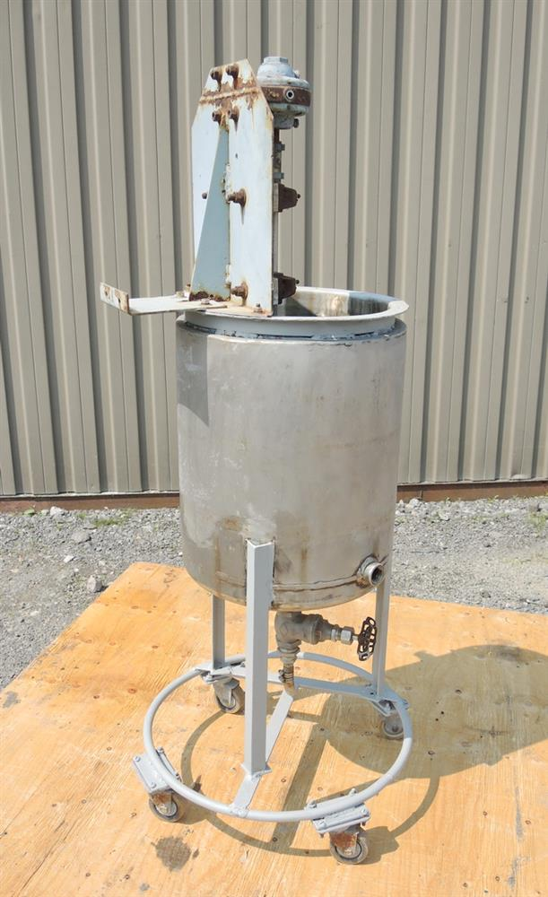 Image 8 Gallon Stainless Steel Jacketed Tank With Air Mixer 681226