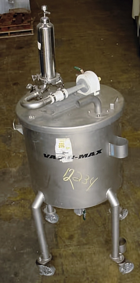 Image VAC-U-MAX  Stainless Steel Pharmaceutical Grade Pneumatic Receiver 681271