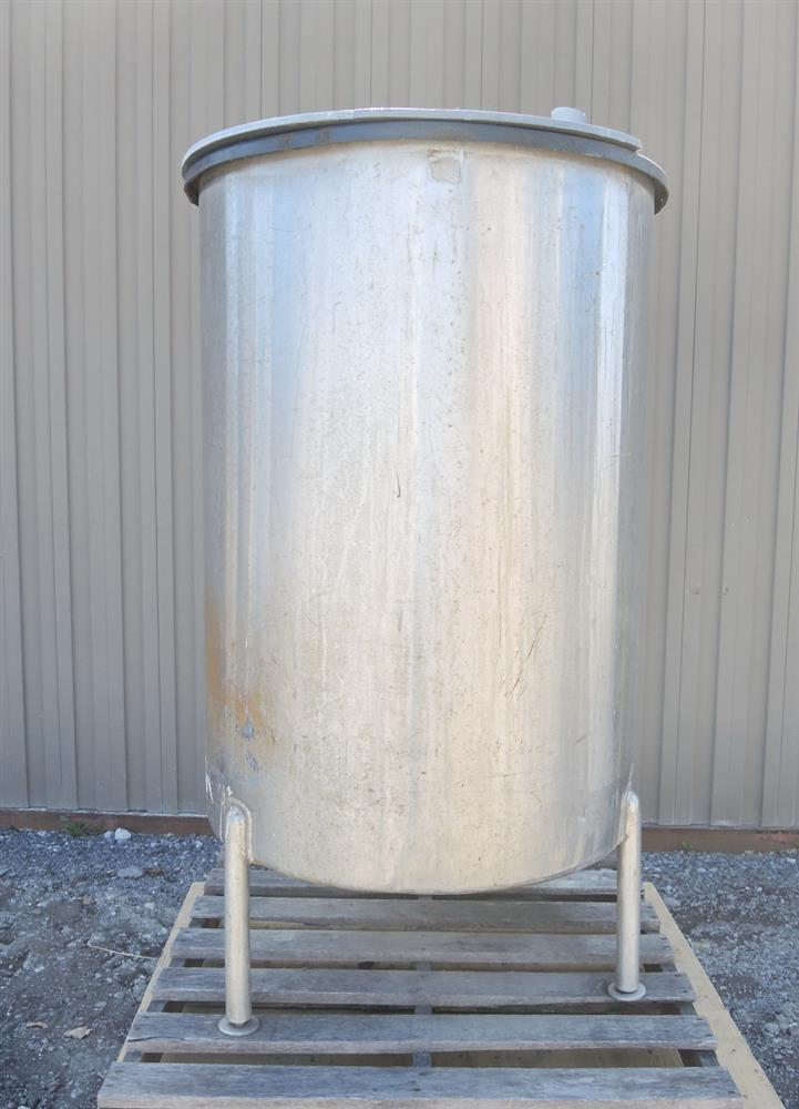 Image 160 Gal Stainless Steel Tank - Rubber Coated Interior 681401
