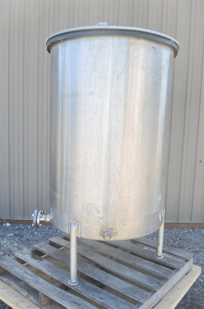 Image 160 Gal Stainless Steel Tank - Rubber Coated Interior 681402