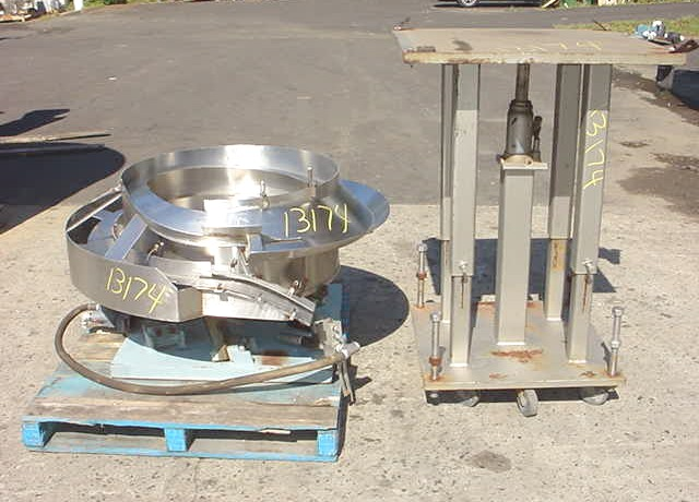 Image 30in Dia  Stainless Steel Pneumatic Operated Vibrator Bowl Feeder 681847