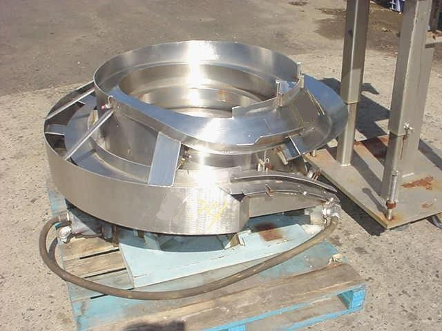 Image 30in Dia  Stainless Steel Pneumatic Operated Vibrator Bowl Feeder 754665