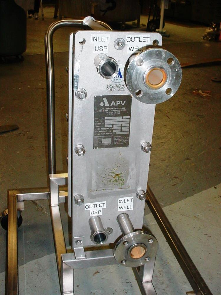 Image APV 316L Stainless Steel Pharmaceutical Grade Plate Heat Exchanger 803480