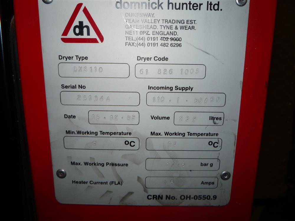 Image DOMNICK HUNTER DXS 110 Dryer 682083