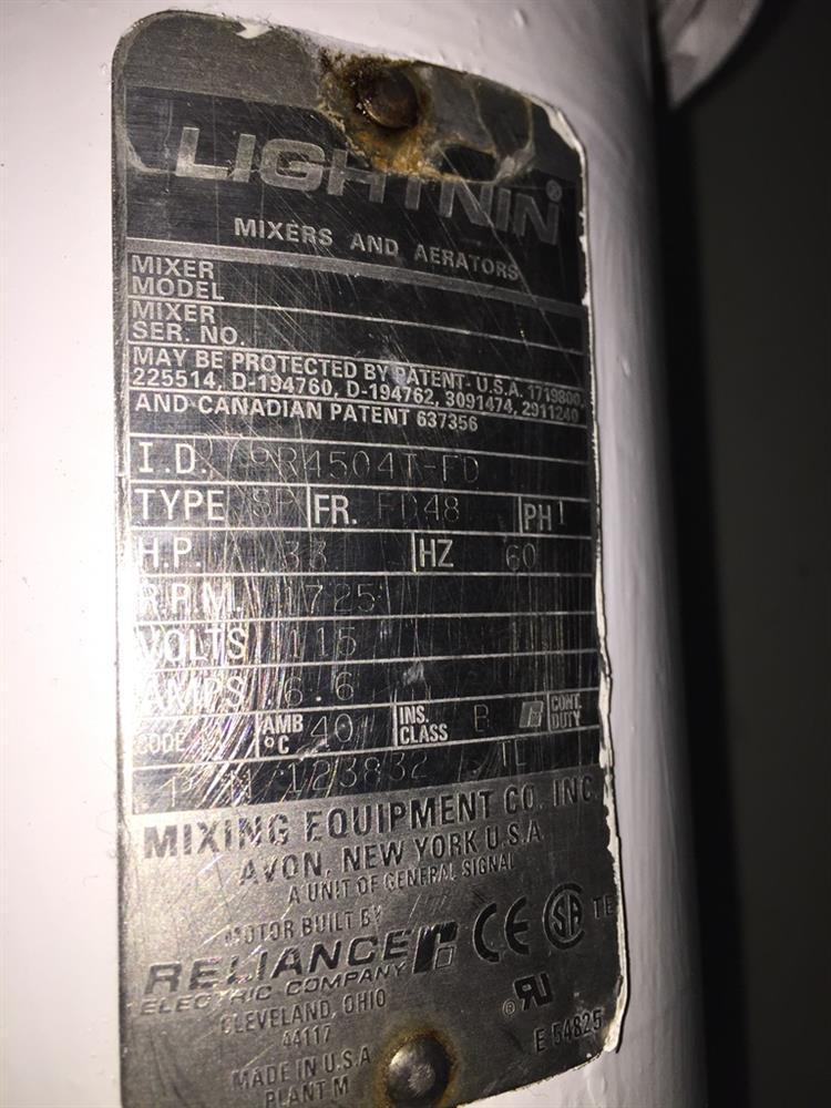 Image 1/3HP LIGHTNIN Type SP Electric Mixer  682491