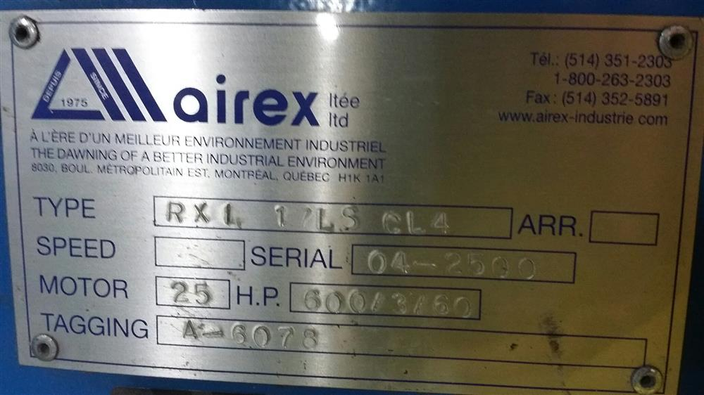 Image AIREX RXI 17LS CL4 Radial Wheel Industrial Blower 683828