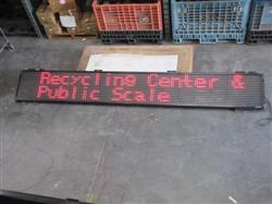 236107 - 152In X 21In Black Led Programmable Scroll Sign
