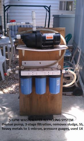 Mobile Coolant/Wastewater Filtration/Recycling System