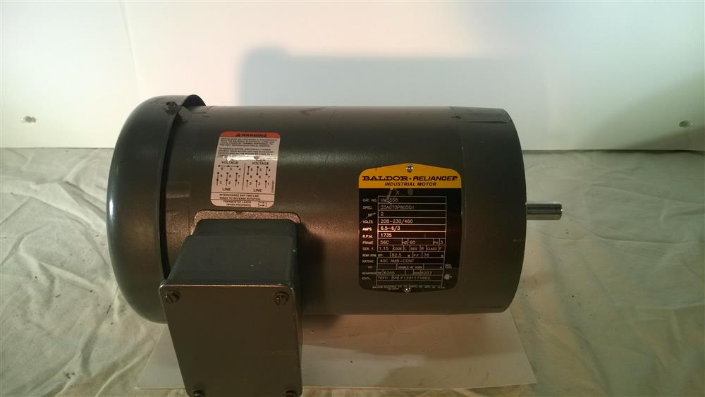 2 hp baldor vm3558 electric 239294 for sale used for Electric motors for sale used