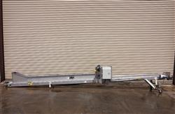 "239460 - 10"" x 20' L MEYER 5B-440-12 Stainless Steel Food Product Incline  Conveyor"