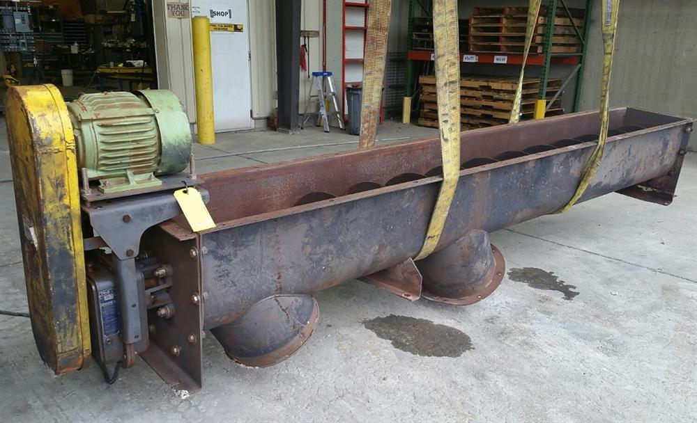 16in OD X 12ft-7in Long Inclined Screw Conveyor