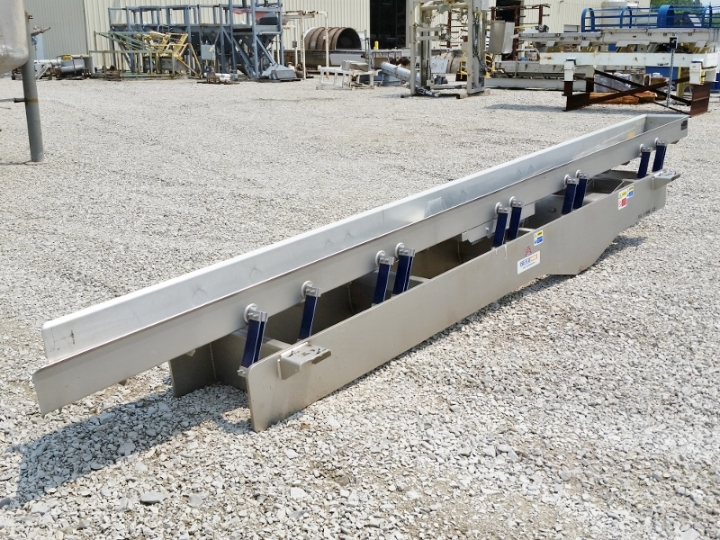 KEY TECHNOLOGY Vibrating Conveyor - 14in Wide X 18.5ft Long