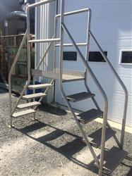 "239947 - 54""H INOX Staircase With Footbridge"
