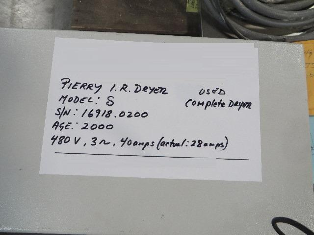 """Image PIERRY Model S Infrared Dryer, 40"""" 712587"""