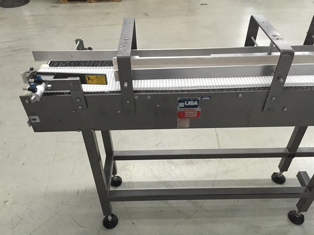 Image 114in L x 8in W HI-SPEED Chain Conveyor 702708