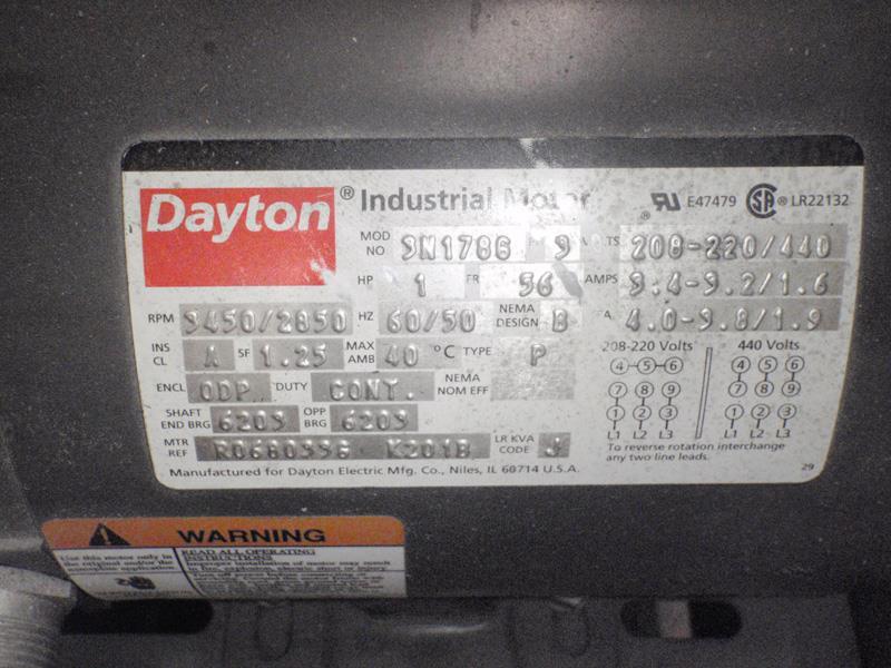 Image DAYTON 4C108 Blower 708895