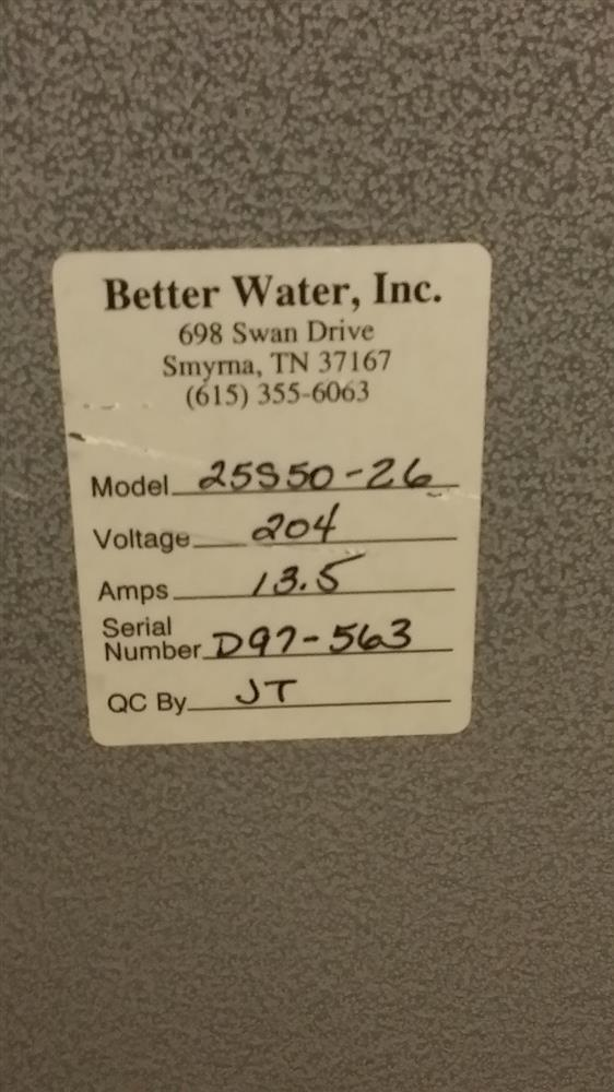 Image BETTER WATER Two Tank Reverse Osmosis System 1048485
