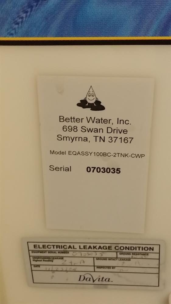 Image BETTER WATER Two Tank Reverse Osmosis System 721583