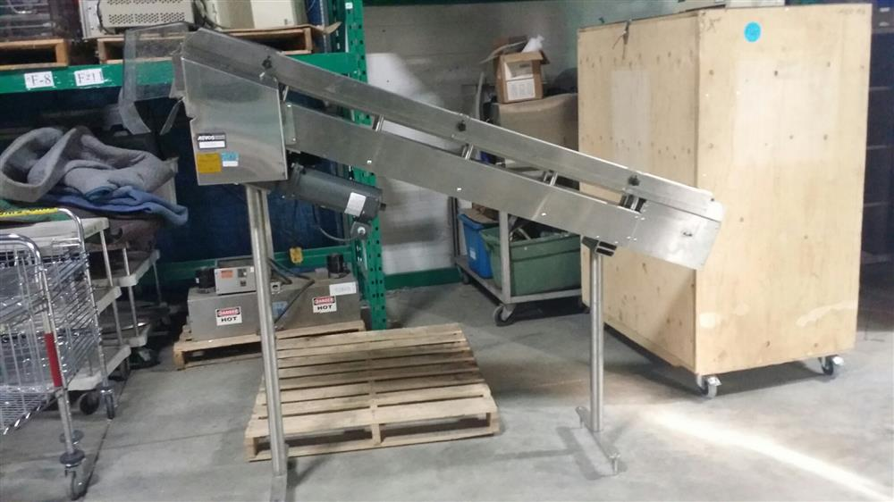 DL TECH DLCS-6-77 Stainless Steel Incline Conveyor