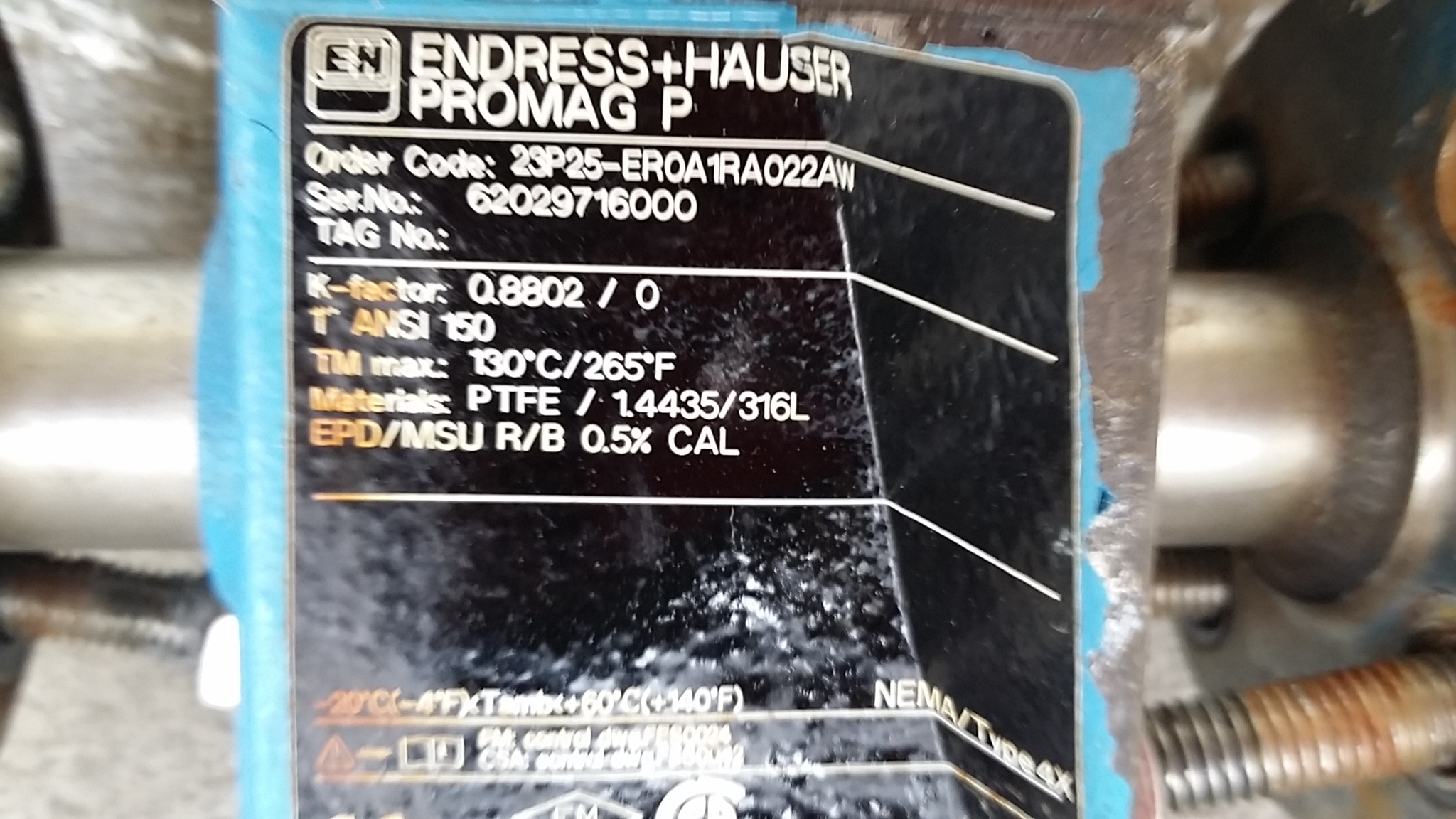 ENDRESS HAUSER Flow Meter - 250479 For Sale Used