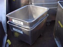 250580 - 42 Gallon Tote Cart - Sanitary, Stainless Steel