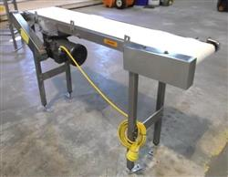 255144 - 10in X 60in KEENLINE White Belt Conveyor - Stainless Steel Sanitary