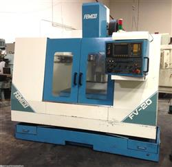 257301 - FEMCO FV-20 CNC Mill Vertical Machining Center with FANUC OM-VMC-HAAS-VIDEO