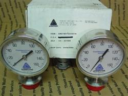 258713 - 2 ANDERSON NEGELE Pharma Series EM 90 MM Sanitary Pressure Gauge - Never Used