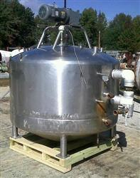 259718 - 500 Gallon MUELLER Jacketed Mixing Kettle/Tank