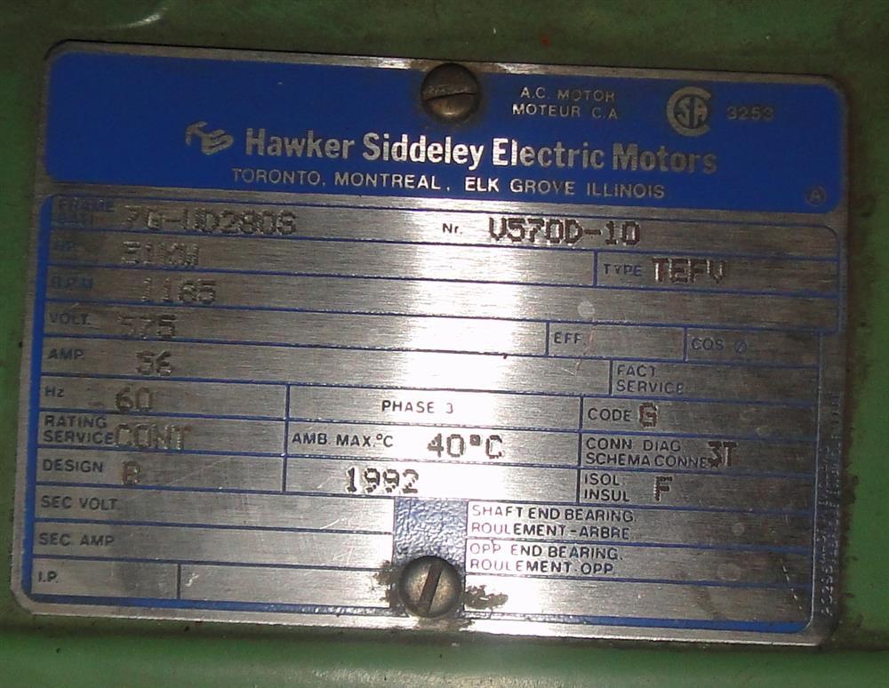 ... Image HAWKER SIDDELEY Motor - 51kW 777201