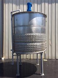266901 - 1200 Gallon PROCESS EQUIPMENT Jacketed Processing Tank - Stainless Steel