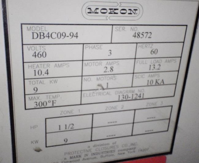 Image MOKON Thermolator - Model DB4C09-94, 9 KW  823408