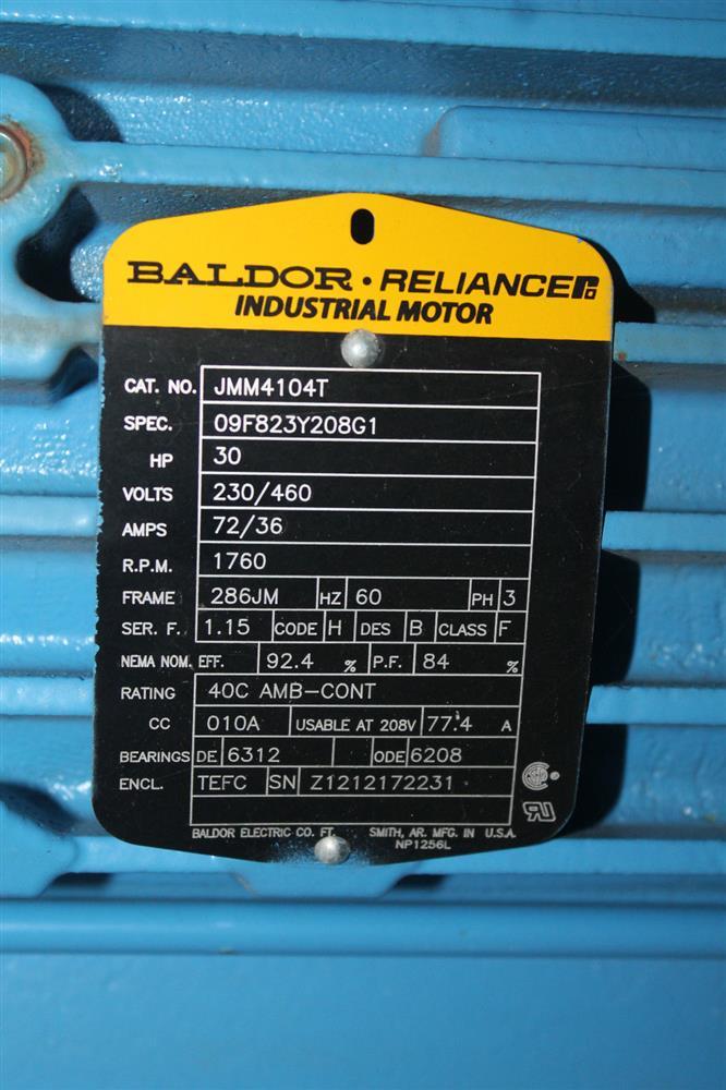 Baldor motor with grundfos 273912 for sale used for Baldor motor serial number lookup