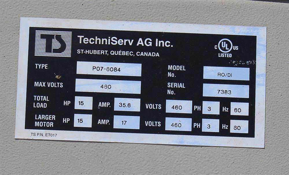 Image TECHNISERV Model RO/DI Filter 836170