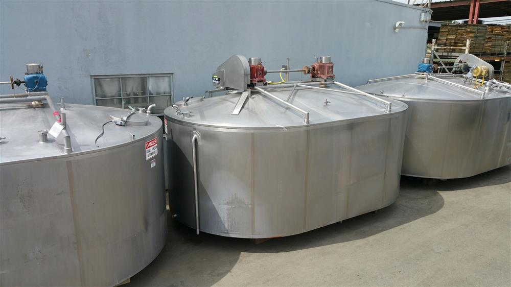 Image 40,000 Lbs. DAMROW Cheese Vat Jacketed Tank - Stainless Steel 853392