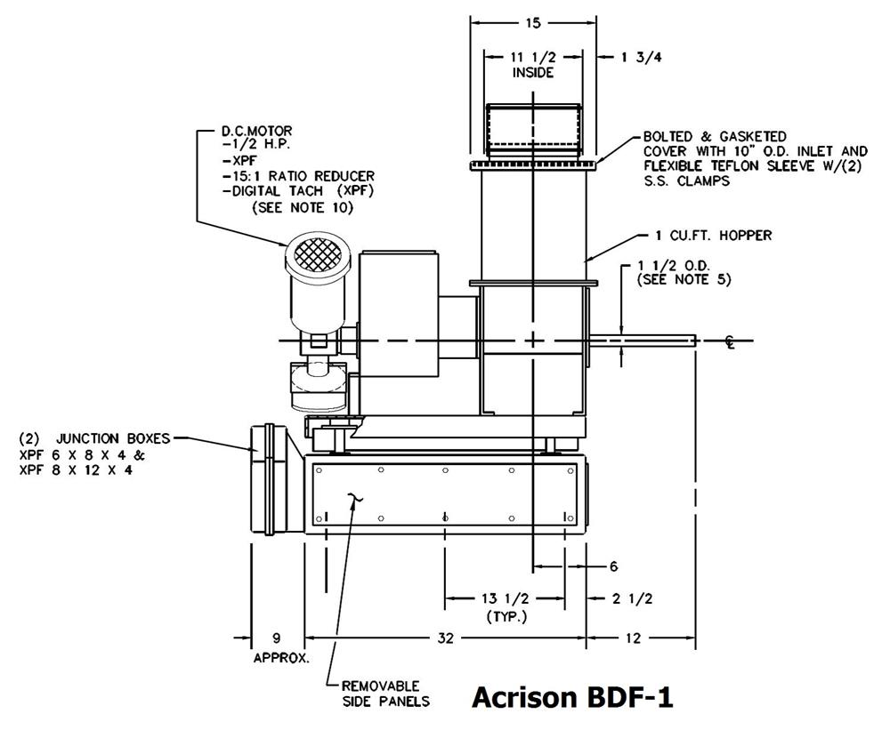 i doser feeder volume plans assembly valve buy project cad drawings spool shop volumetric