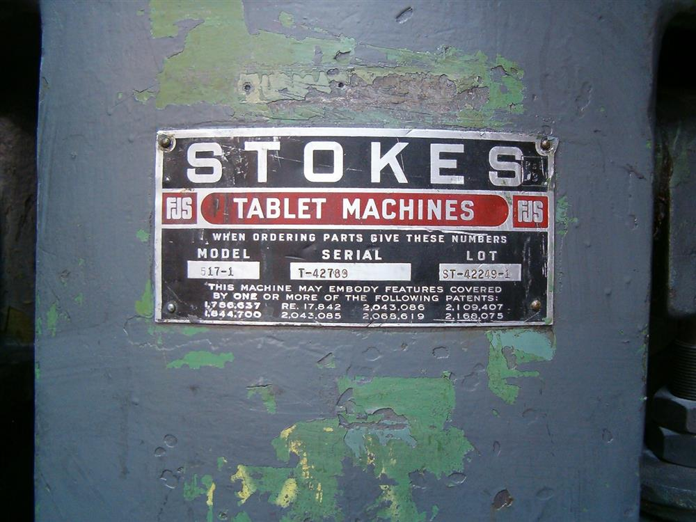 Image STOKES DDS2/517-1 Tablet Press 1390730
