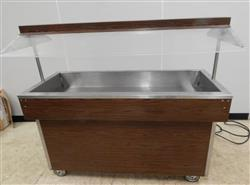 281700 - Restaurant Buffet Table With Sneeze Guard On Casters