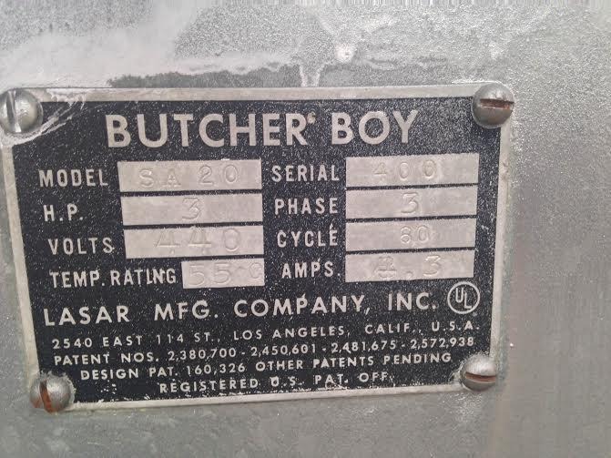 Image BUTCHER BOY Fixed Meat Band Saw 861311