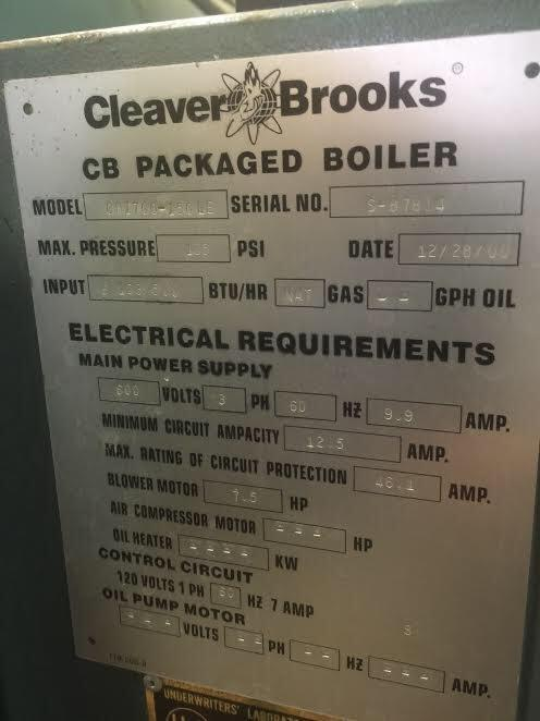 cleaver brooks gas fired pa 283180 for used image cleaver brooks gas fired packaged boiler 918961