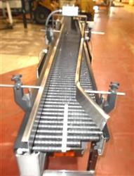 "283603 - 9"" X 10' SHUTTLEWORTH Accumulating Conveyors - Stainless Steel Roller Wheel"