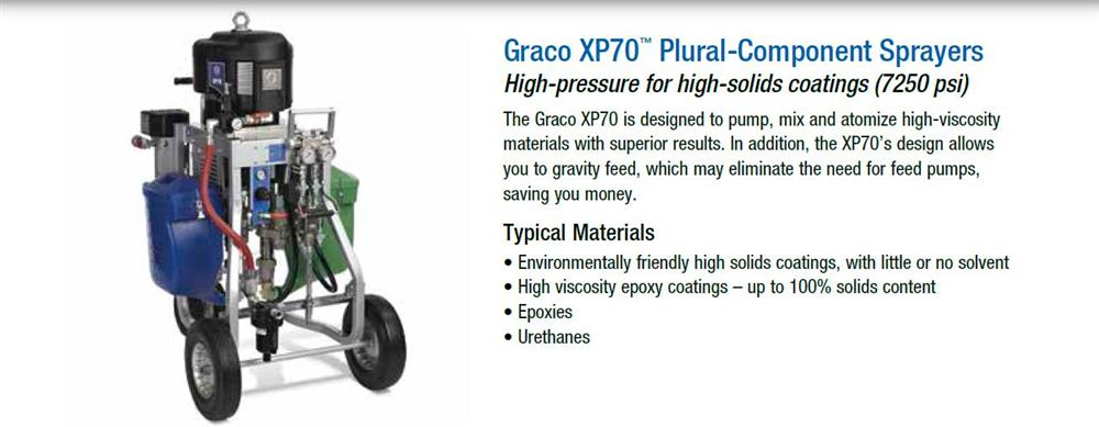 Image GRACO XP70 Plural-Component Sprayer 867113