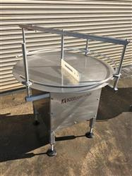286189 - 42in KISS Rotary Feed Pack Off Accumulation Table - Stainless Steel