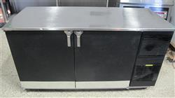 287194 - 60in GLAS TENDER 2 Door Bar Cooler with Stainless Steel Top on Wheels