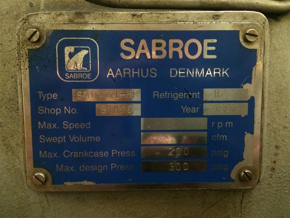 Image SABROE Refrigeration Plant 881943