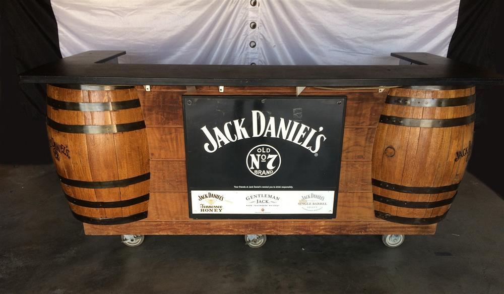 Genial Image JACK DANIELS Whiskey Barrel Bar   Professional, Steel Wheels 884222  ...
