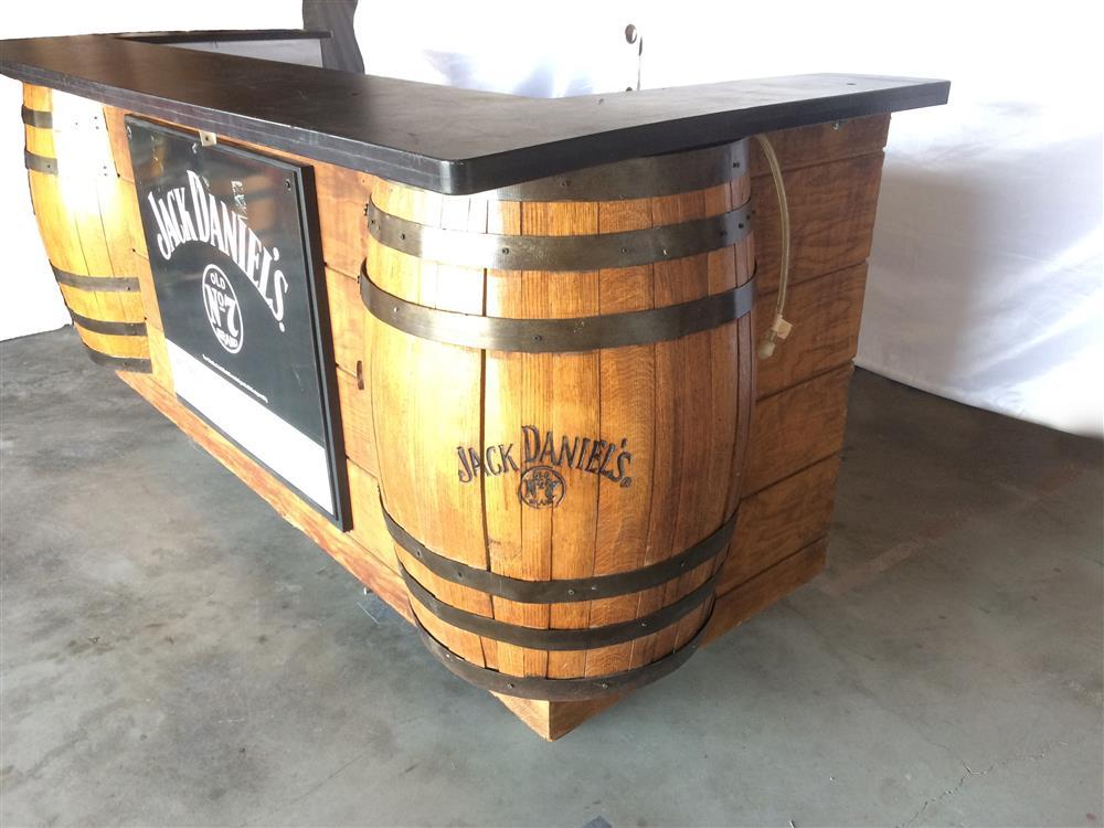... Image JACK DANIELS Whiskey Barrel Bar   Professional, Steel Wheels  884224 ...
