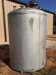 288721 - 1500 Gallon GASTON Matching Mix Tanks - Stainless Steel, Dome Top